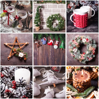Decoración navideña de bricolaje para el hogar y amigos.
