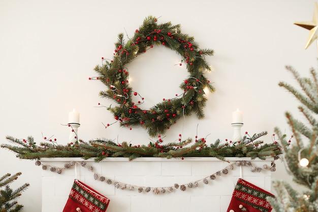 Decoración navideña en casa