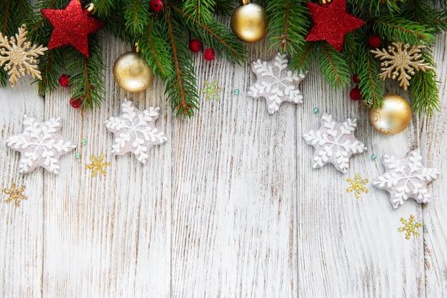 Decoración navideña con galletas