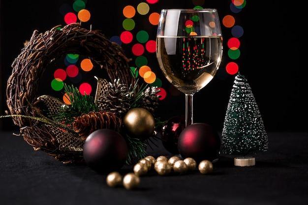 Decoración navideña. luces borrosas
