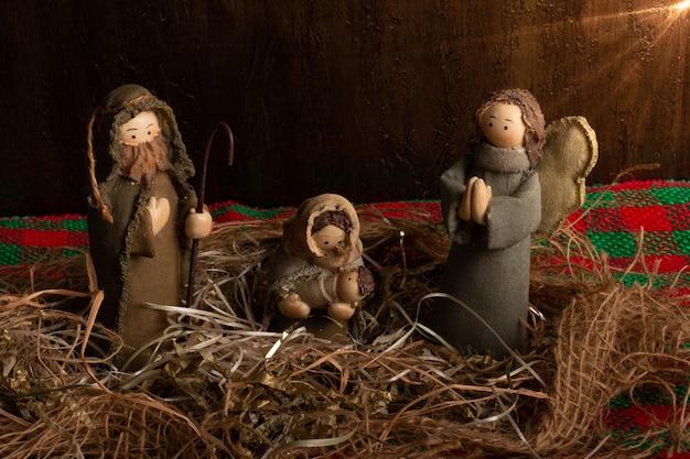 Decoración navideña tradicional.