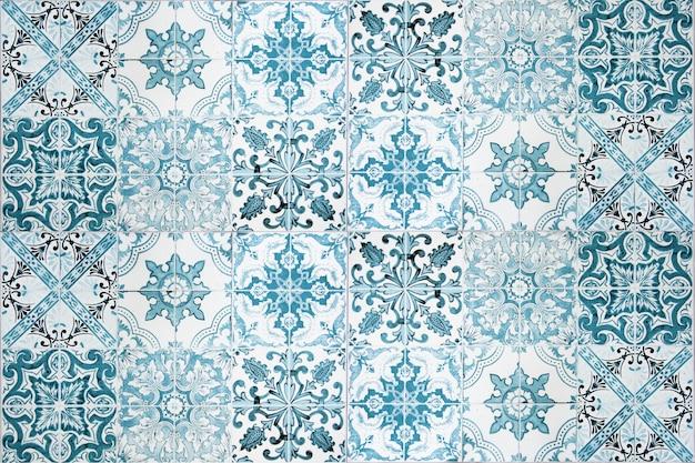 Decoración de la pared de azulejos de cerámica vintage