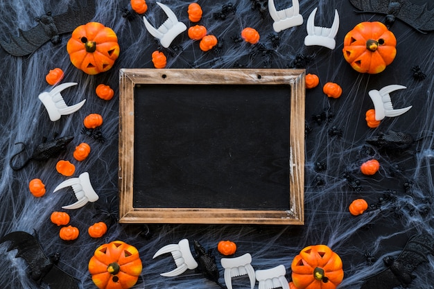 Decoración de pizarra de halloween