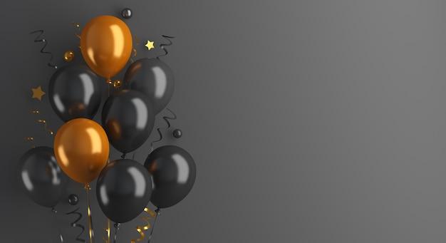 Decoración rebajas de viernes negro con globo.