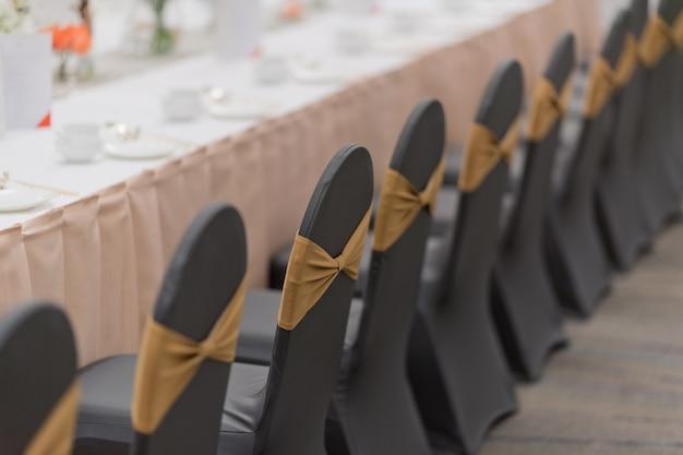 Decoración de la silla de boda, silla de eventos