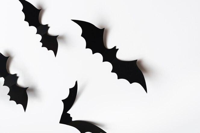 Decoraciones de halloween en la pared