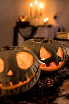 Decoraciones de fiesta de halloween de primer plano