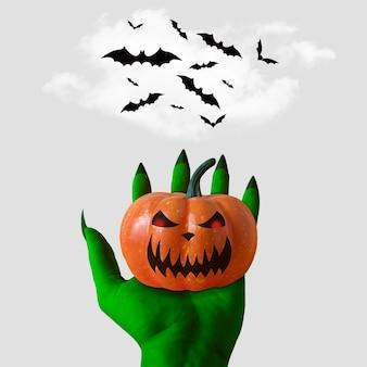 Decoraciones de murciélago de halloween sobre un fondo blanco.
