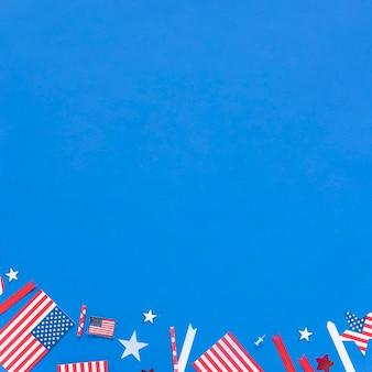 Decoraciones de papel para el día de la independencia.