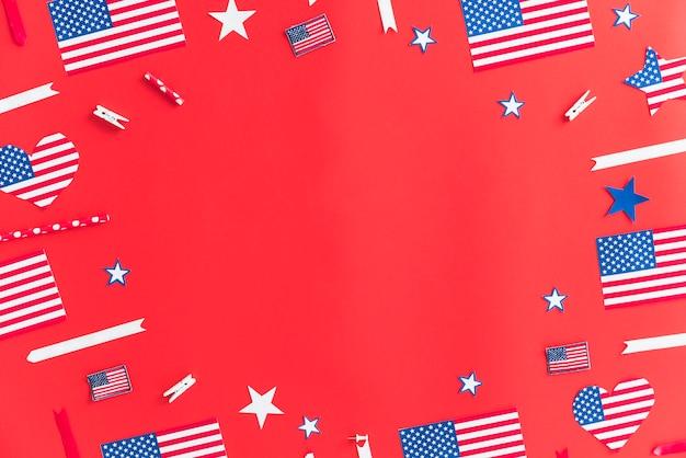 Decoraciones de papel hechas a mano para el día de la independencia.