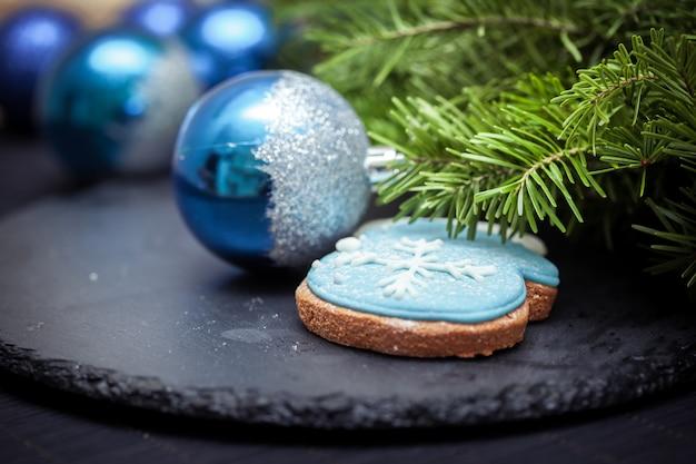 Decorado navidad manopla galleta de hielo de pan de jengibre