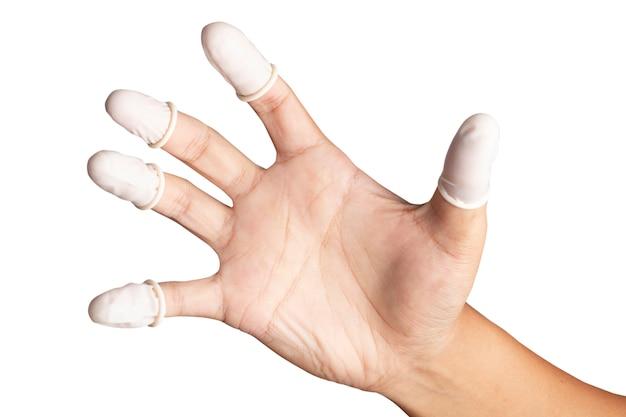 Los dedos están en los dedos para ayudar a prevenir huellas en la pieza tocada.