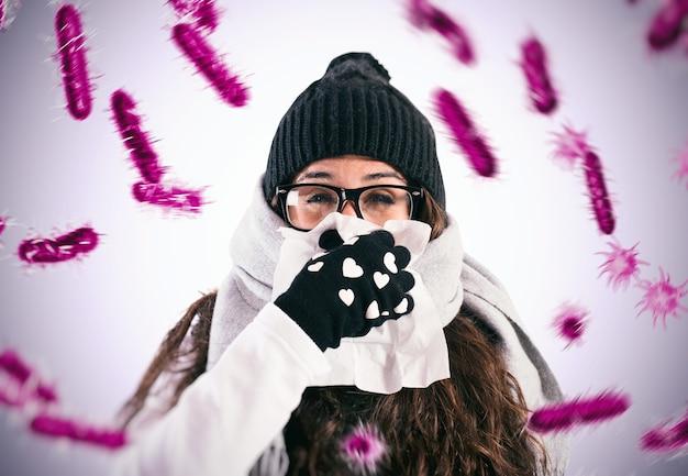 Defenderse de la gripe y el resfriado que están infectados por virus