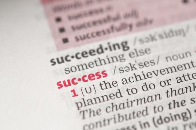 Definición de éxito