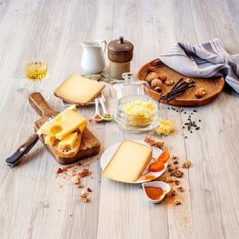 Degustación de queso y comida