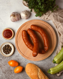 Delicias de carne y embutidos embutidos nudillo de carpaccio de tocino de chorizo