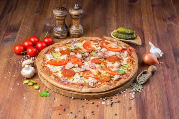 Deliciosa pizza casera