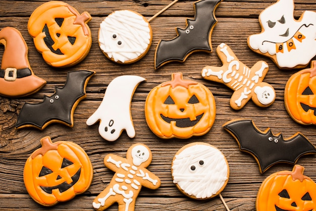 Deliciosas galletas de fiesta de halloween