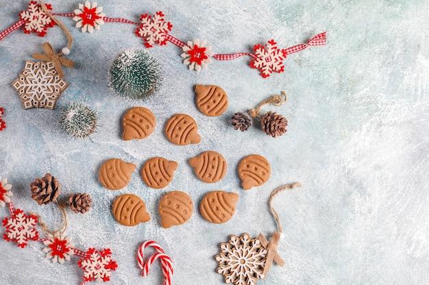 Deliciosas galletas de jengibre caseras.