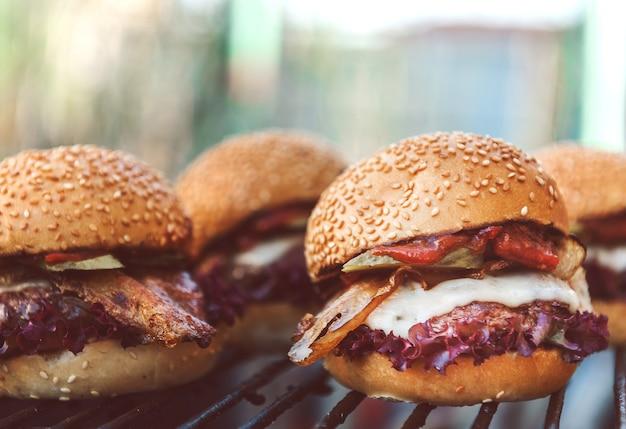 Deliciosas hamburguesas caseras