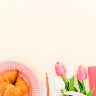 Delicioso croissant para el desayuno.