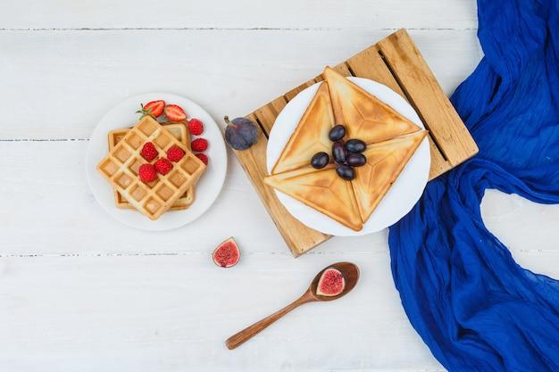 Delicioso desayuno con frutas