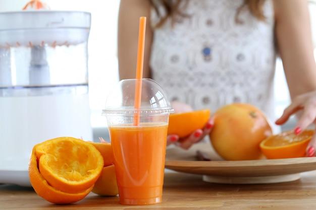 Delicioso jugo de naranja