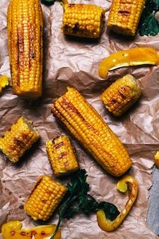 Delicioso maíz a la parrilla