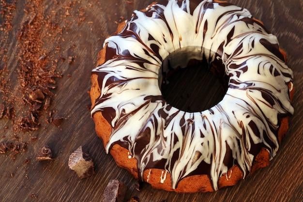 Delicioso pastel con chocolate