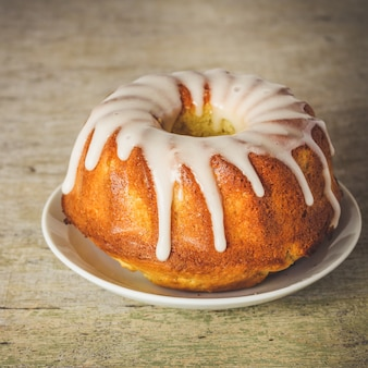 Delicioso pastel glaseado