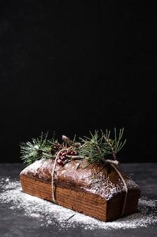 Delicioso pastel hecho especial para navidad