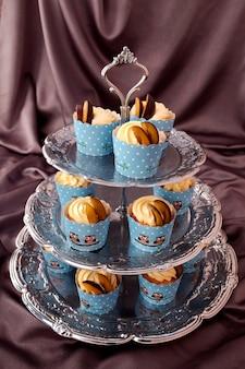 Deliciosos cupcakes caseros.