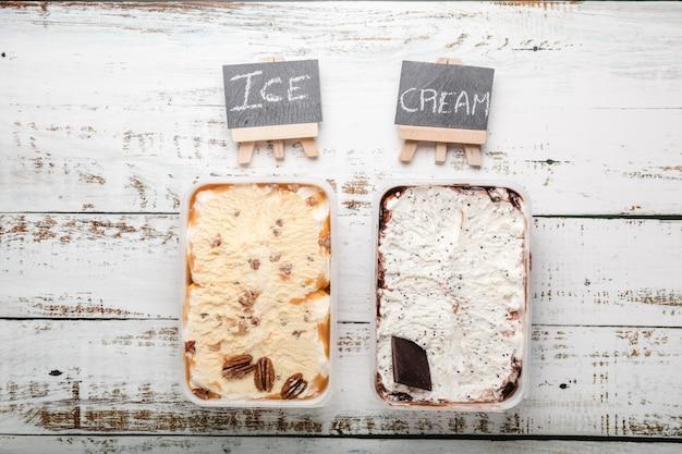 Deliciosos postres helados con diversos ingredientes.