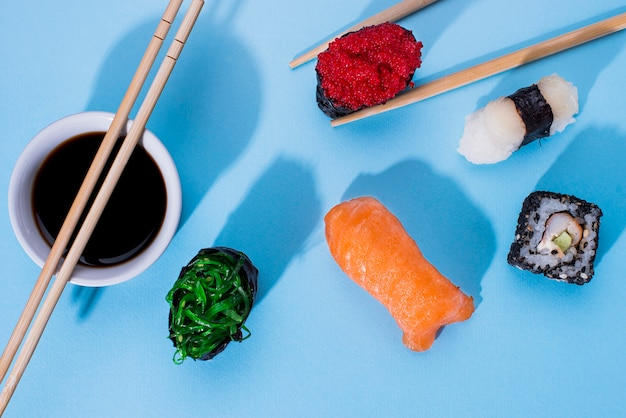 Deliciosos rollos de sushi
