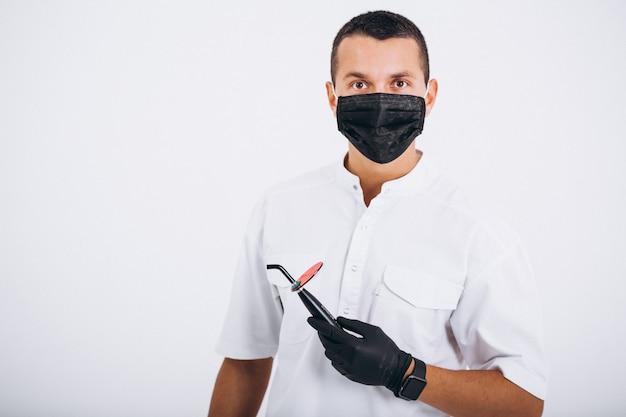 Dentista en sargento aislado