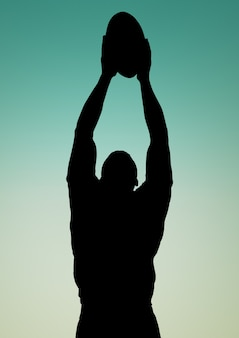 Deporte de equipo recorta la silueta de contorno de habilidad