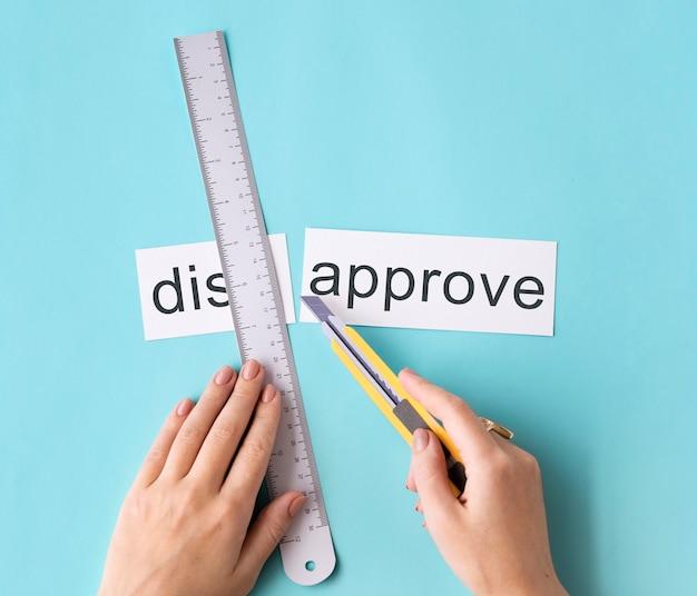 Desaprobar el concepto de división de palabra cortada a mano