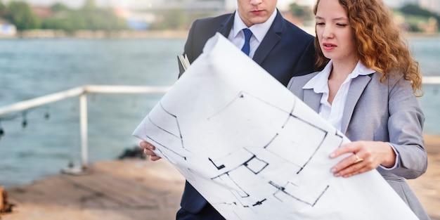 Desarrollador servey planificación estructura construcción concepto