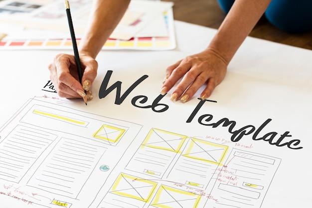 Desarrollar la plantilla web de codificación de diseño web de codificación