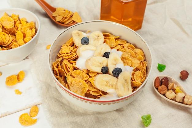 Desayuno saludable con copos