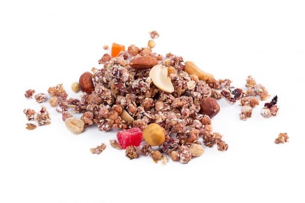 Desayuno saludable de granola aislado
