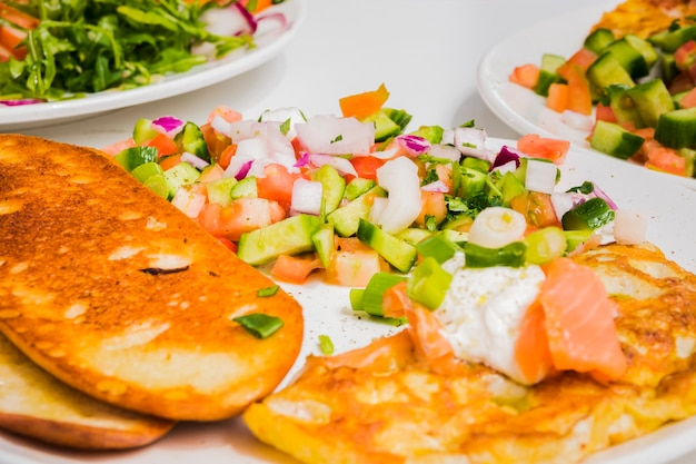 Desayuno saludable con verduras