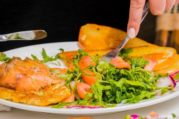 Desayuno sano con verduras