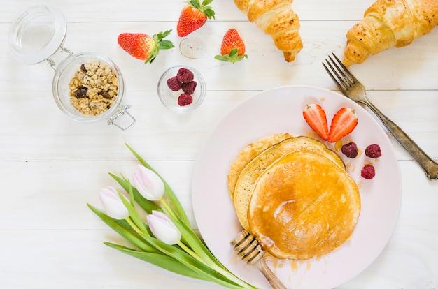 Desayuno de tortitas