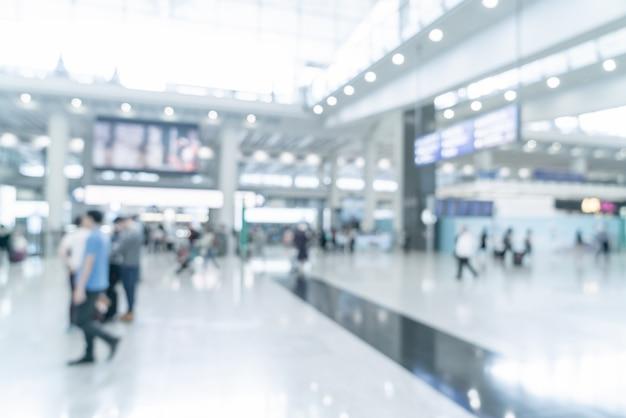 Desenfoque abstracto y aeropuerto desenfocado