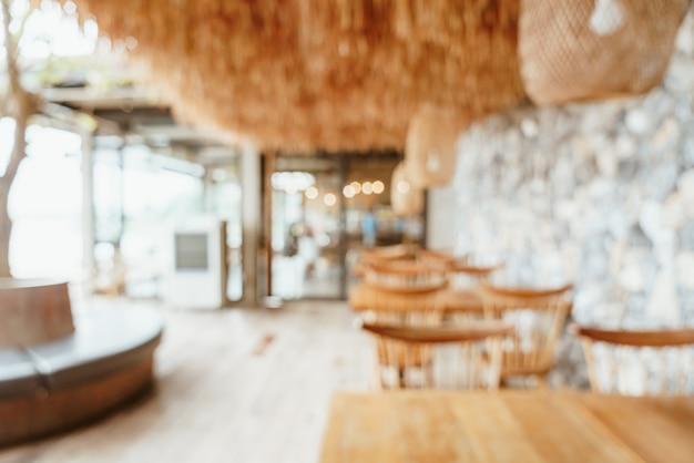 Desenfoque abstracto café o cafetería