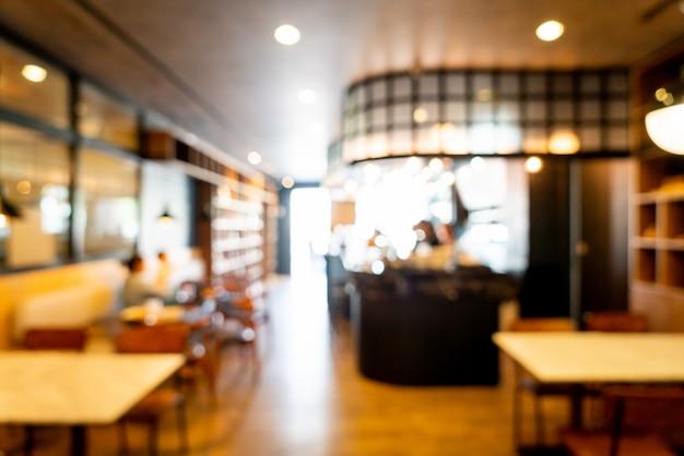 Desenfoque abstracto cafe restaurante para el fondo
