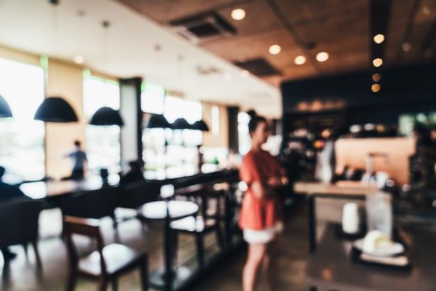 Desenfoque abstracto y cafetería desenfocada y cafetería restaurante