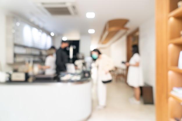 Desenfoque abstracto cafetería y restaurante cafetería para el fondo
