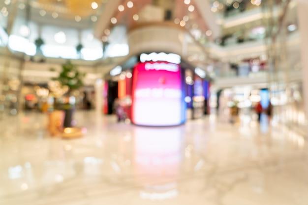 Desenfoque abstracto y centro comercial de lujo desenfocado